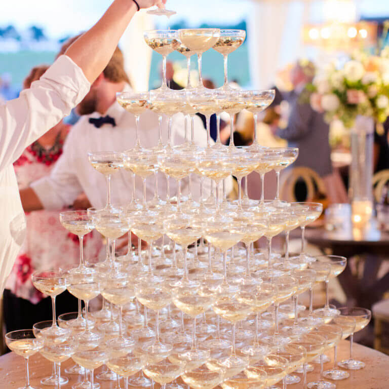 Wedding Champagne Coupe Tower